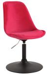 Jídelní / konferenční židle Lona otočná samet černá, červená