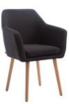 Jídelní / konferenční židle Samson látkový potah, přírodní podnož, černá