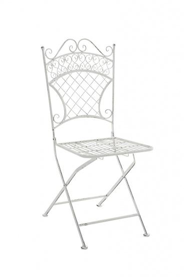 Zahradní jídelní / konferenční židle Adelar, antik bílá
