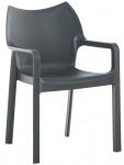 Jídelní / konferenční židle Diva, tmavě šedá