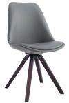 Jídelní / konferenční židle Kailas čtvercový ořech (dub), šedá