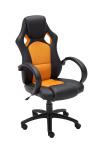 Racing kancelářská / pracovní židle Spped, oranžová