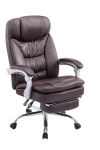 XL Kancelářská / pracovní židle Lemon, hnědá