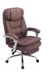 XL Kancelářská / pracovní židle Lemon látkový potah, hnědá